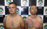 Polícia prende em flagrante dois homens tentando assaltar agência do Banco Bradesco em Água Clara